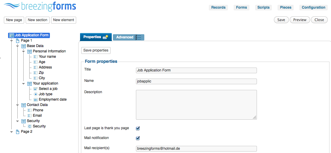 Breezing Forms A New Free WordPress Forms Plugin (With