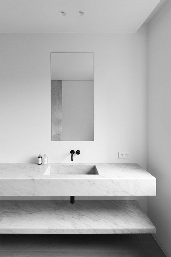 Modeles Salles De Bains En Marbre Blanc