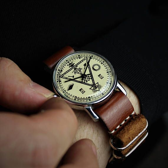 Masonic watch, mens watch, vintage watch, russian watch