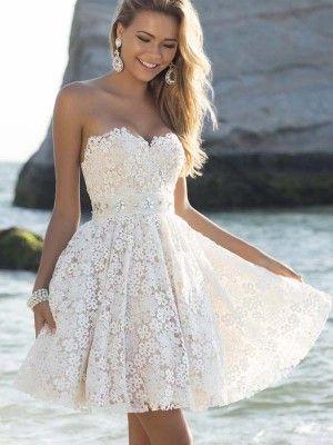 73ab8ef20eb A-Line Princess Lace Sweetheart Sleeveless Rhinestone Short Mini Dresses -  Homecoming Dresses