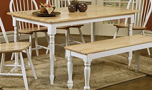 Tremendous Coaster Butcher Block Table In Natural White My Pabps2019 Chair Design Images Pabps2019Com