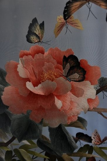 Two sided silk embroidery    Very pretty
