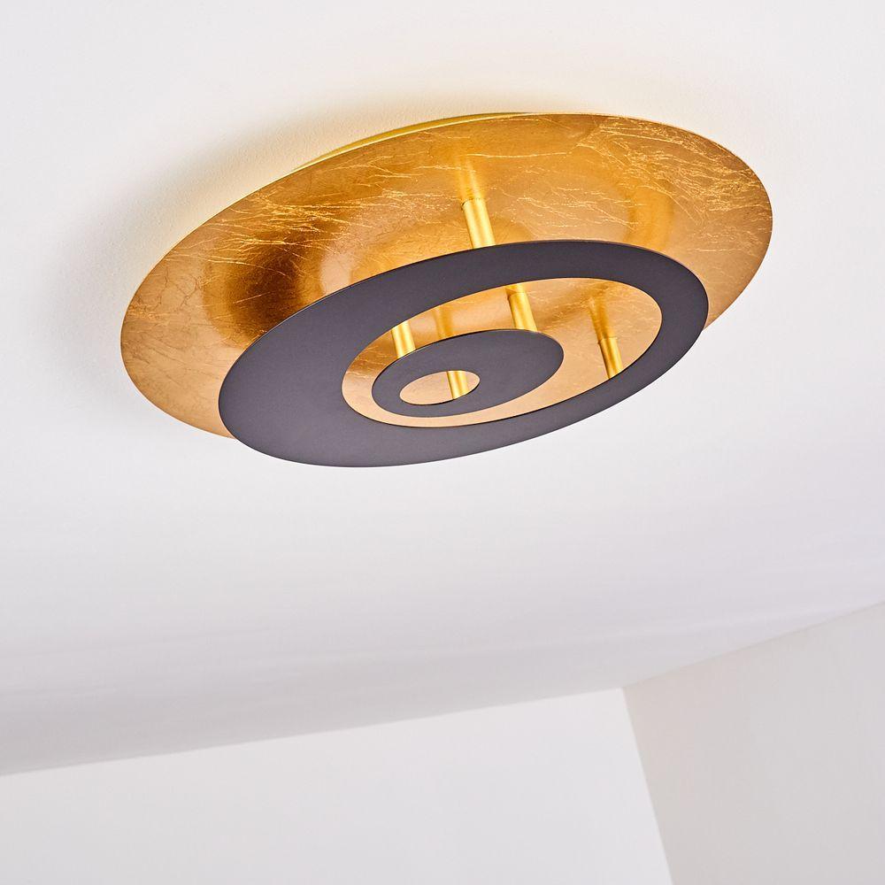Design Deckenleuchte Gold Schwarz Deckenlampe Abena Deckenlampe Lampe Lampen Und Leuchten
