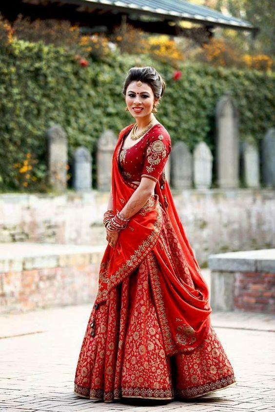 Modern Indian Lehanga Designs In Red Color 4