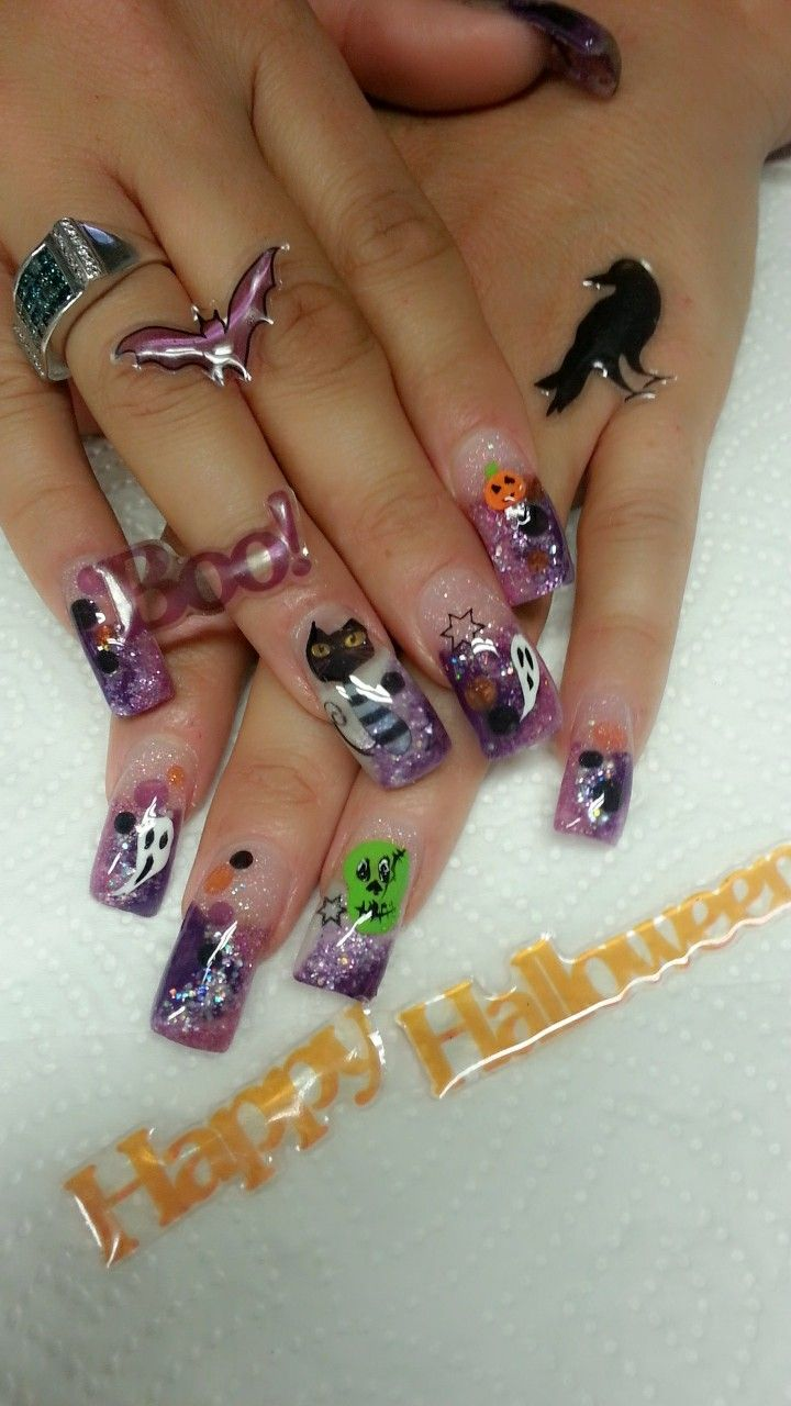 Halloween ready | Halloween nails, Holiday nail art ...