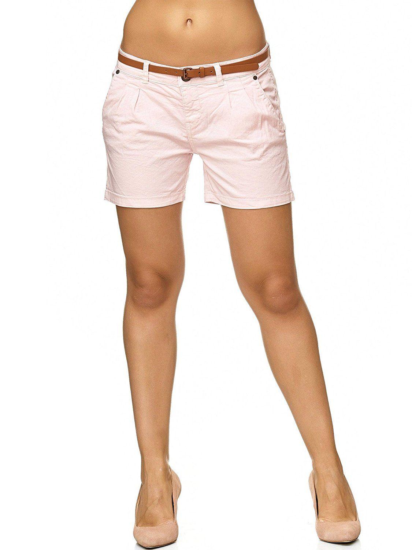 wo kann ich kaufen gut aussehen Schuhe verkaufen niedrigster Rabatt SUBLEVEL Damen D6053Z61713KBS Chino-Shorts kurze Hose inkl ...