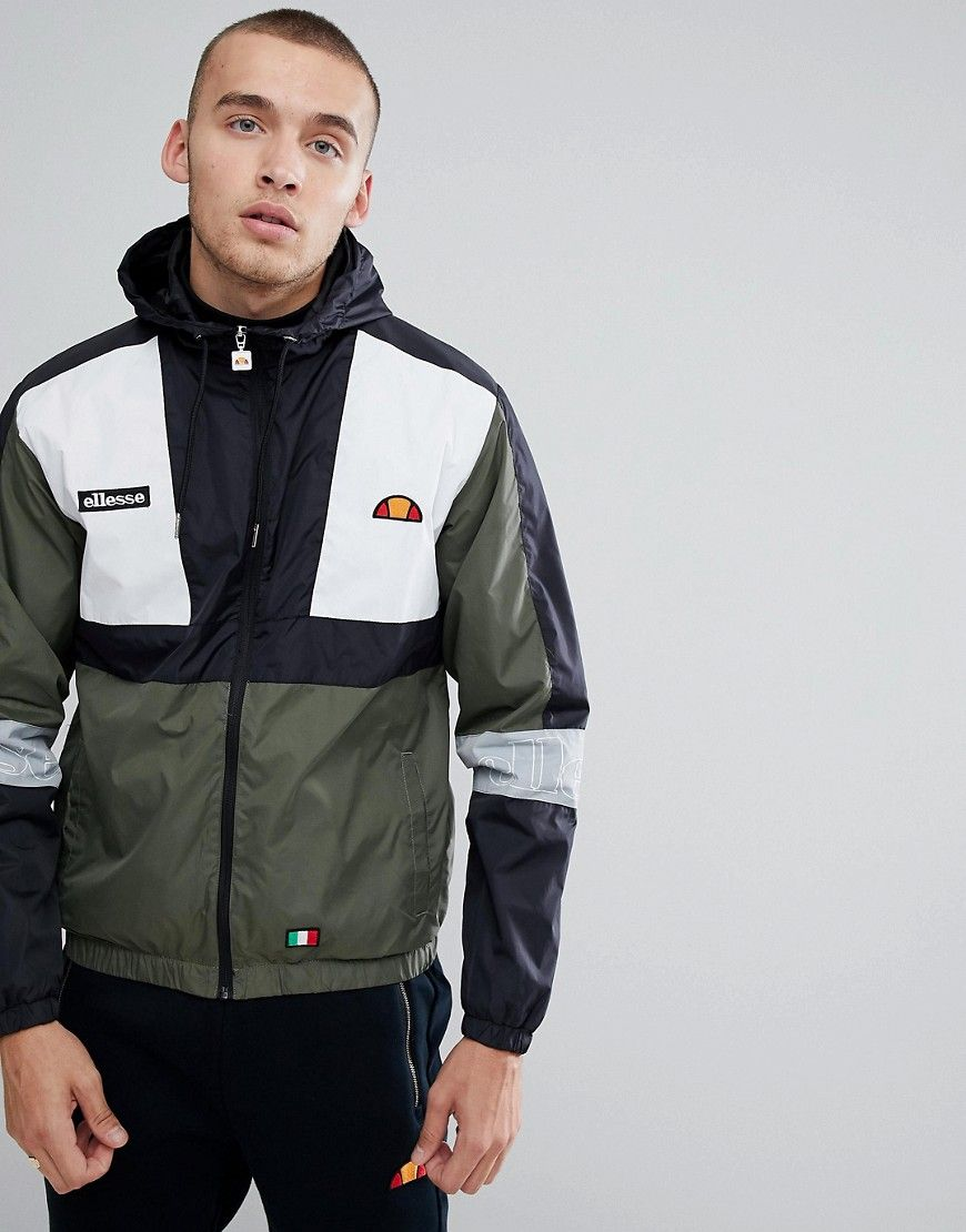 2c04f006 Ellesse Lightweight Hooded Track Jacket With Sleeve Print | Products ...