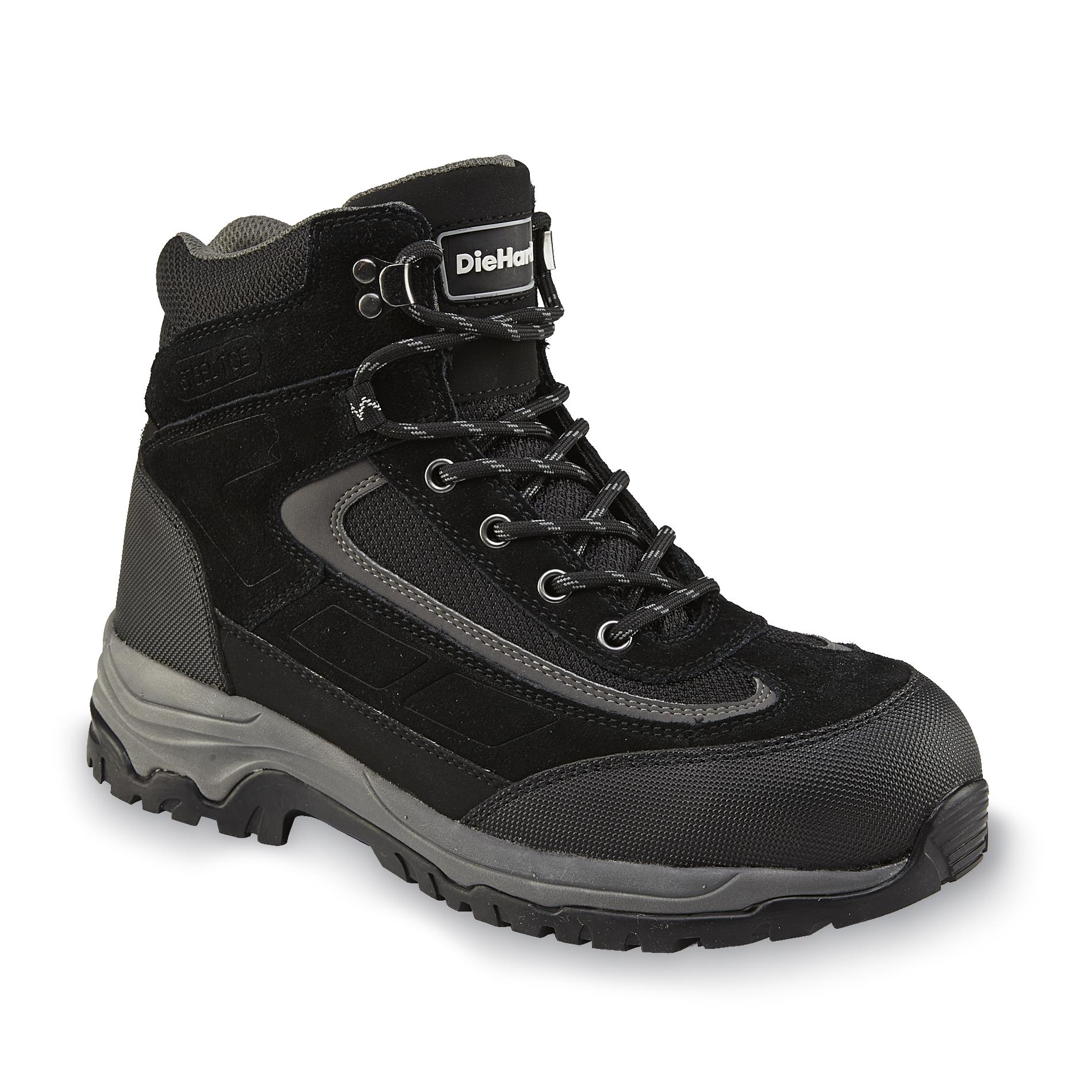 Steel toe work boots, Wide width boots