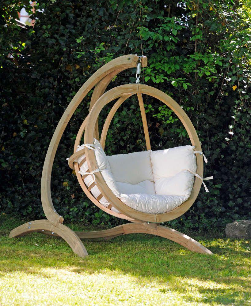 Balancelle Globo chaise coussin et support (Ecru) | Muebles | Hamac ...