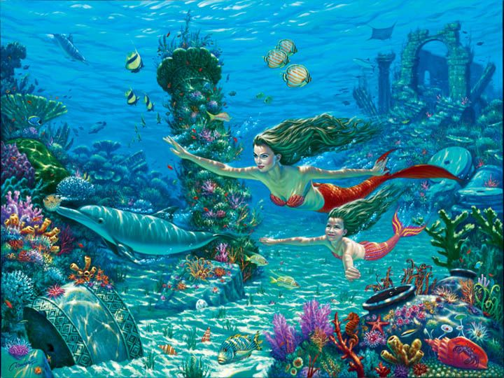 The Swimming Lesson ~ by Wil Cormier Art