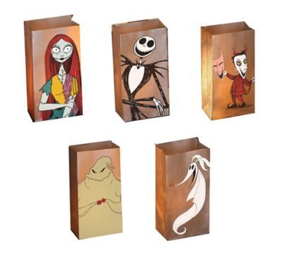 shop for the nightmare before christmas luminary bags with led candles 5ct and other kid friendly halloween decorations online at partycitycom