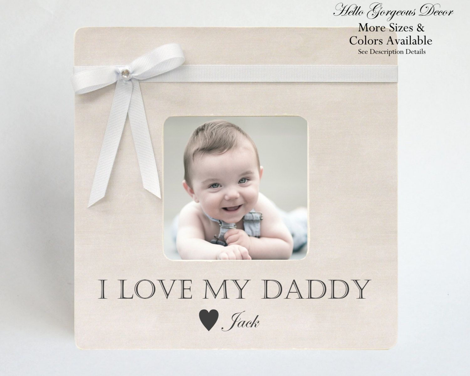 Gift To Dad Picture Frame Father Gift From Baby Children Son