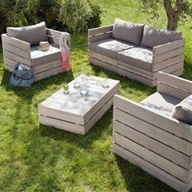 Outdoor furniture made out of pallets | The great outdoors ...