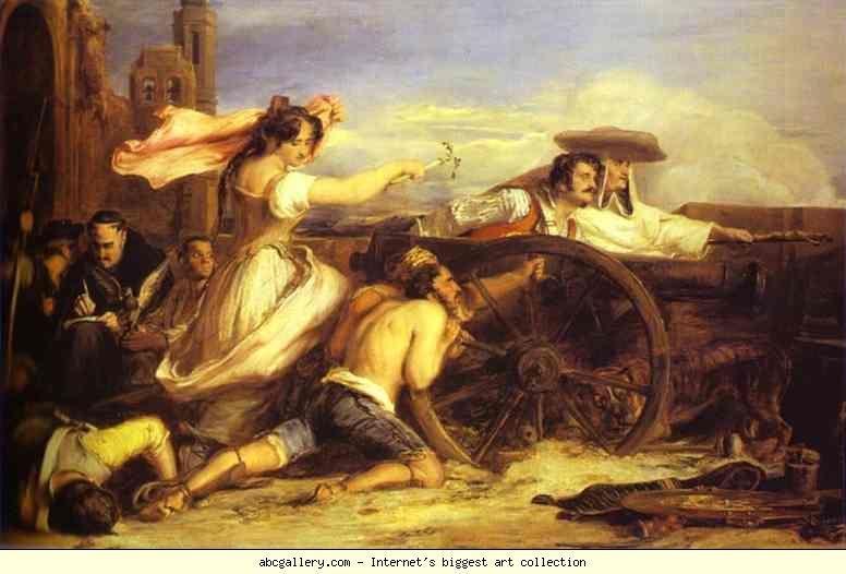 Sir David Wilkie. The Defence of Saragossa. Olga's Gallery.