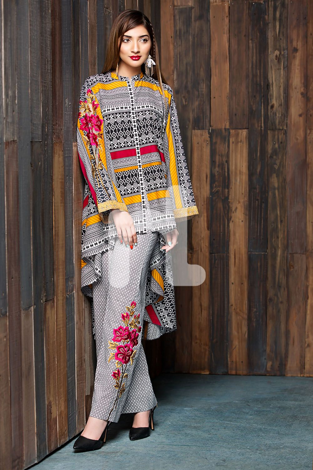 1a11cdab2d Printed Unstitched 2 Piece Cotton Modal Pakistani Dress On A Discount Price  For Shopping Online By Nishat Linen Winter Collection 2017.
