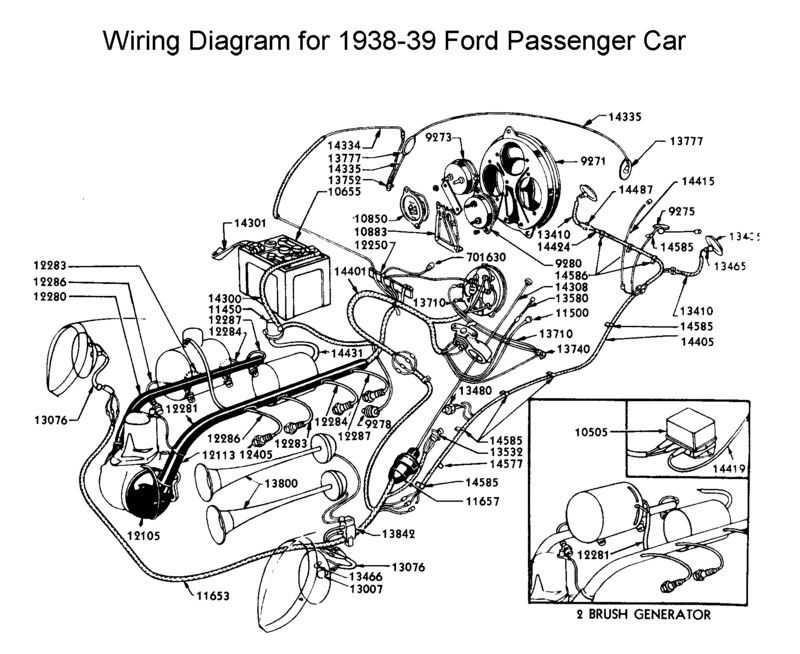 wiring diagram for 1938 39 ford wiring pinterest diagram and ford rh pinterest com