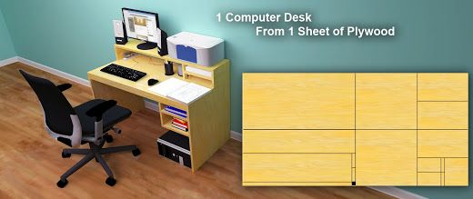 Computer Desk From 1 Sheet Of Plywood Plywood Sheets Computer Desk Plans Built In Computer Desk