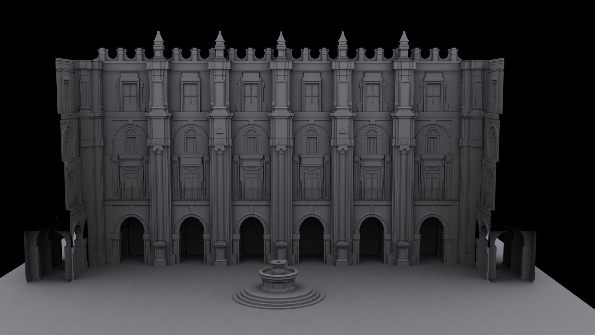 3D Courtyard Environment C&C welcome - Polycount Forum