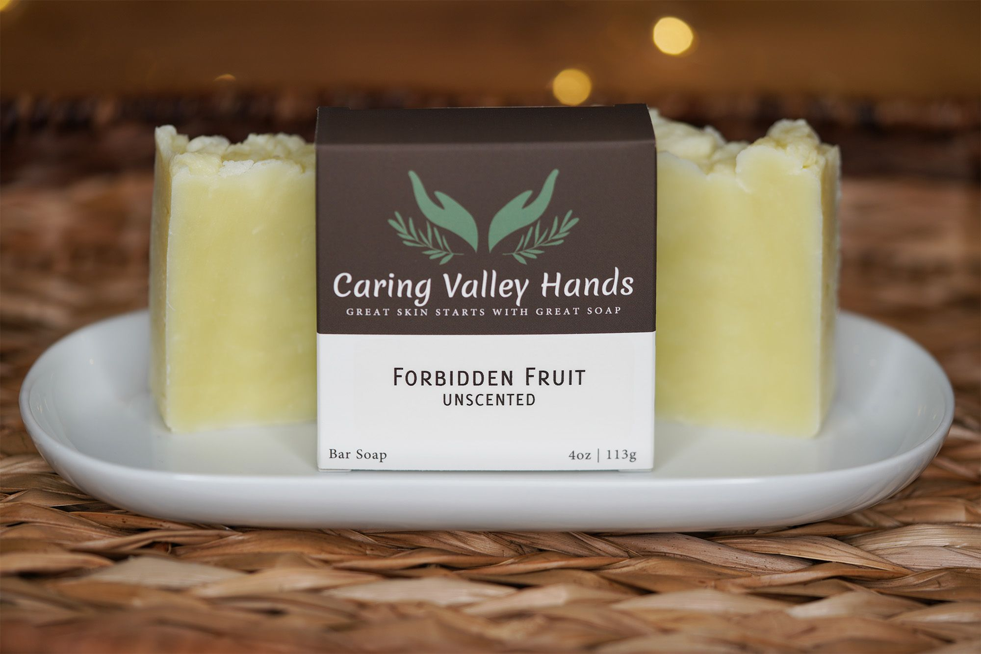 Unscented shea butter soap made with organic coconut and