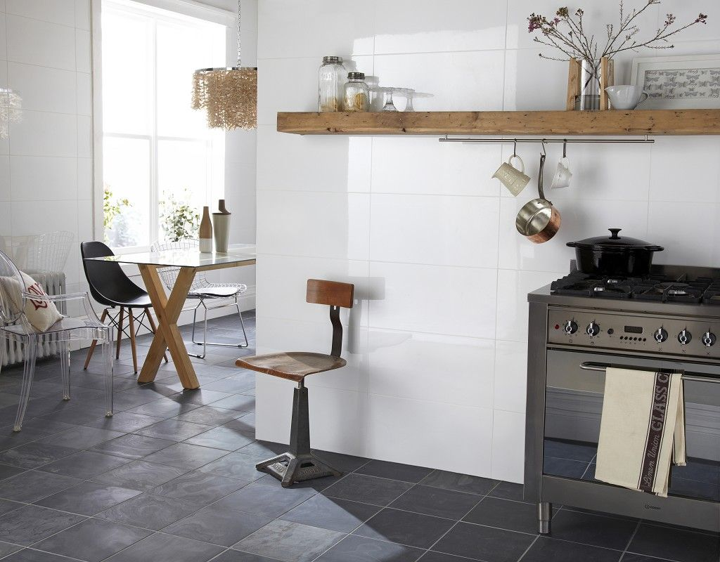 Next stop: Pinterest: Rectified White Gloss Wall Tile for walls in ...