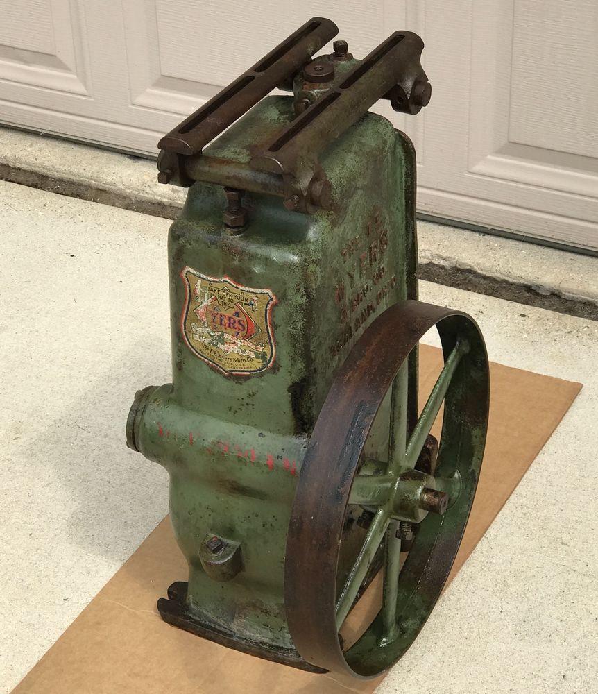 Fe Myers Well Water Pump Jack Part Self Oiling 6 Stroke Belt Drive Motor Antique Water Pumps Belt Drive Water Well