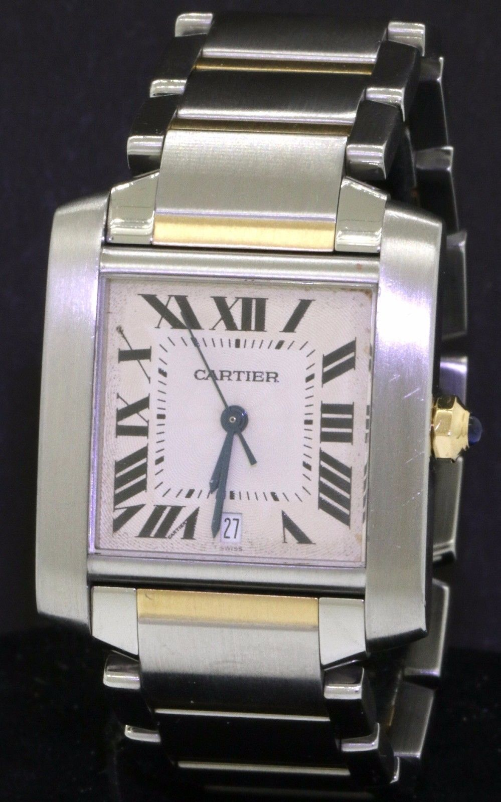 19d26eb8ac38 Cartier Tank Francaise 2302 SS 18K gold high fashion automatic men s watch