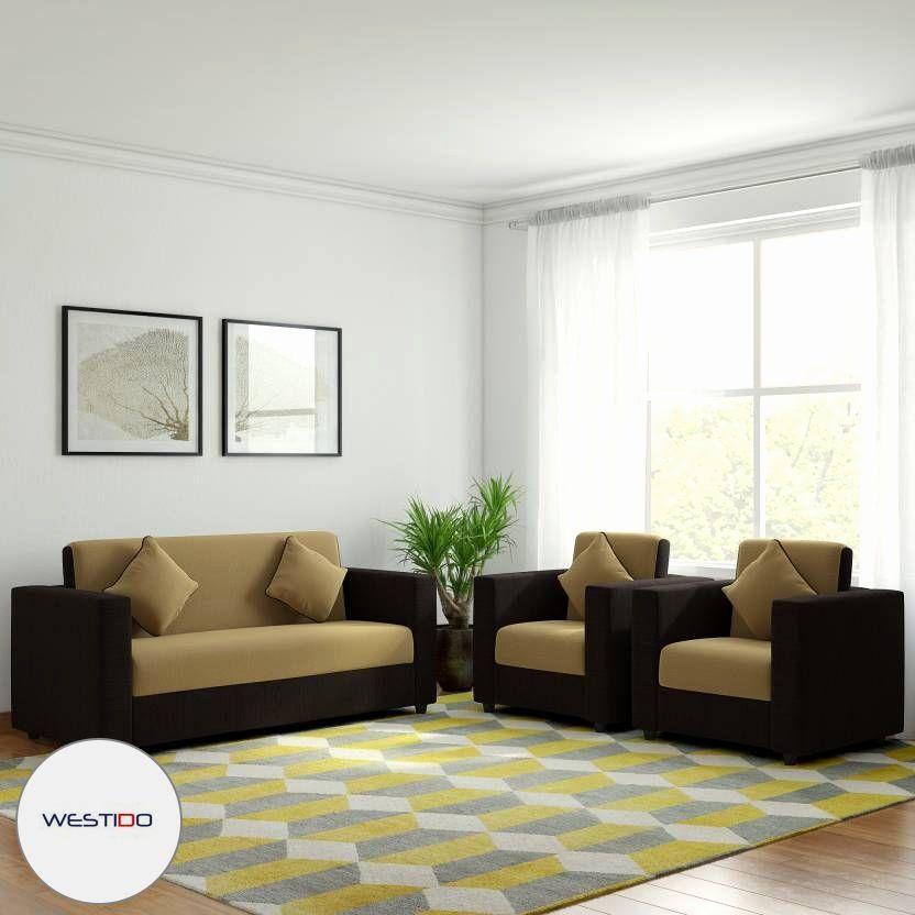 Living Room Design No Sofa Best Of Westido Citrus Fabric 3 1 1 Cream Brown Sofa Set With 4 Filled Di 2020 #no #sofa #living #room