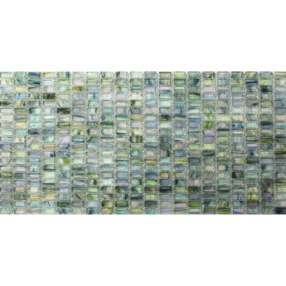 Splashback Tile Breeze Green Tea Glass Mosaic Floor and Wall Tile ...
