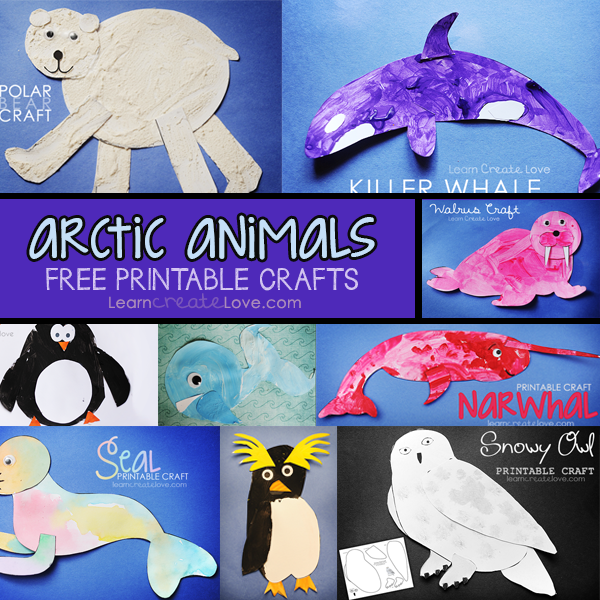 Arctic animal art activities for preschool