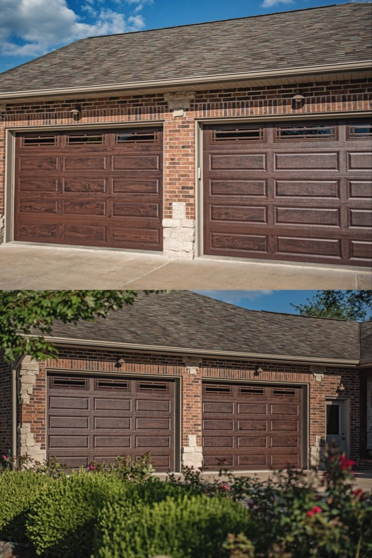 Raised Panel Garage Doors In Walnut Accents Woodtones In 2020 Garage Door Colors Garage Door Panels Bohemian Interior Design