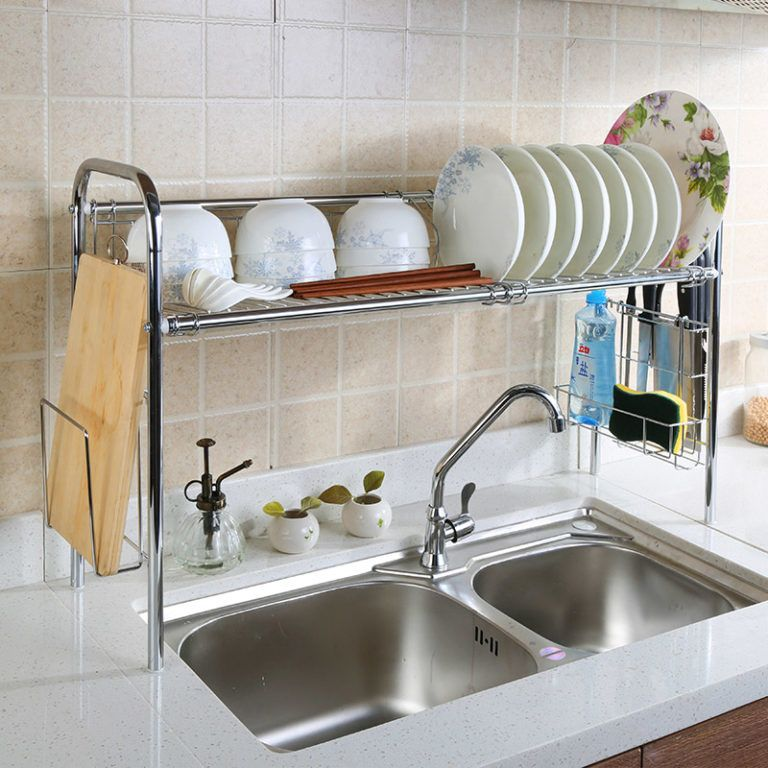 12 amazing and cheap ideas for a kitchen make over 1 sink shelves kitchen sink decor cheap on kitchen sink ideas id=63232