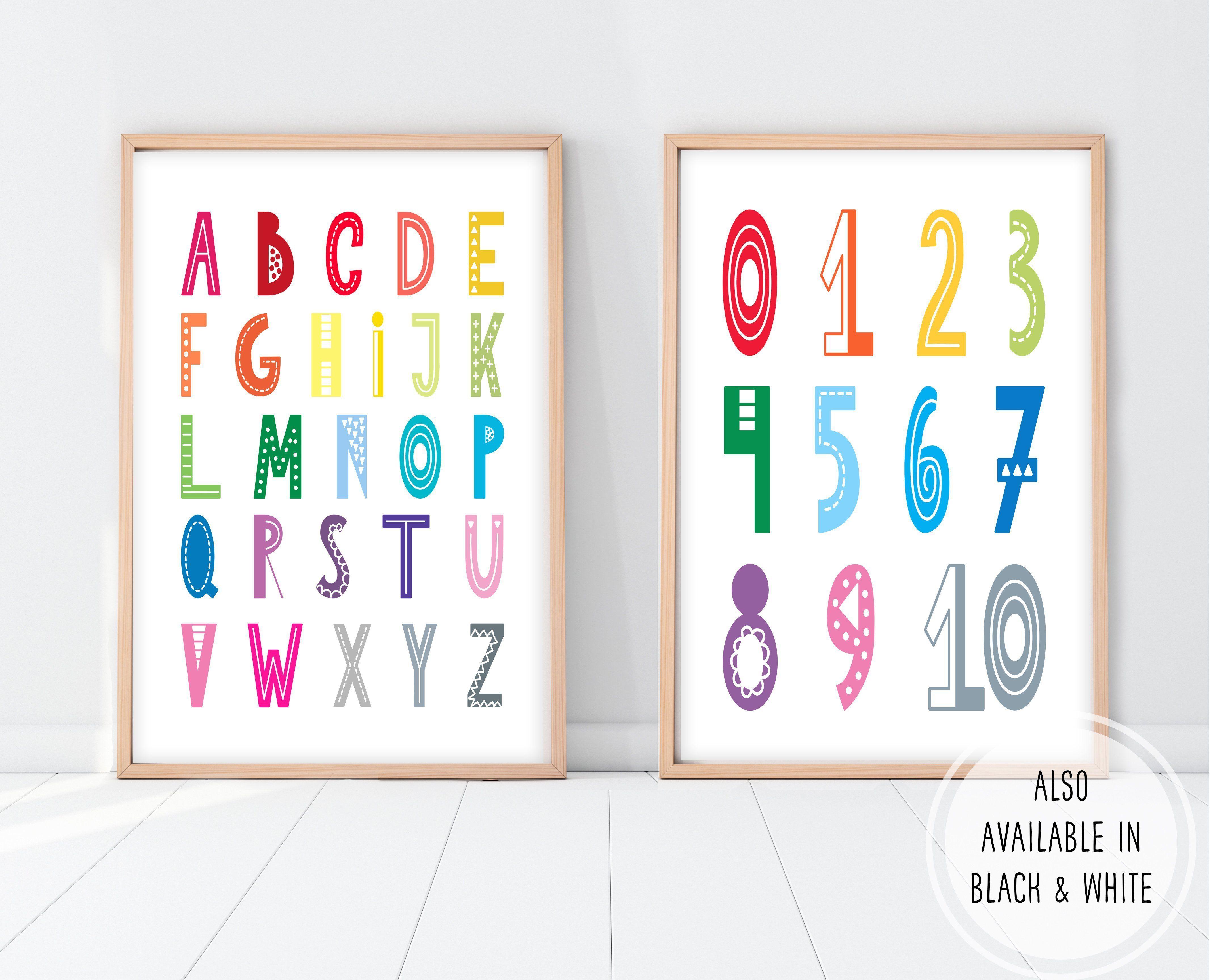 Alphabet Wall Art Abc 123