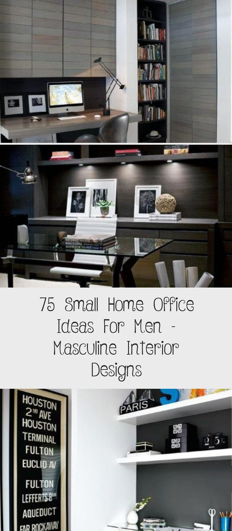75 Small Home Office Ideas For Men 8211 Masculine Interior Designs Masculine Interior Design Small Home Office Small Home Office Ideas For Men
