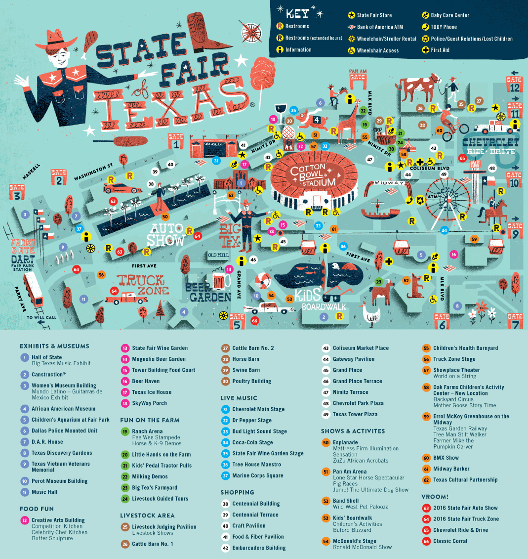 Map Of Texas 2015.Fairgrounds Map The Great State Fair Of Texas