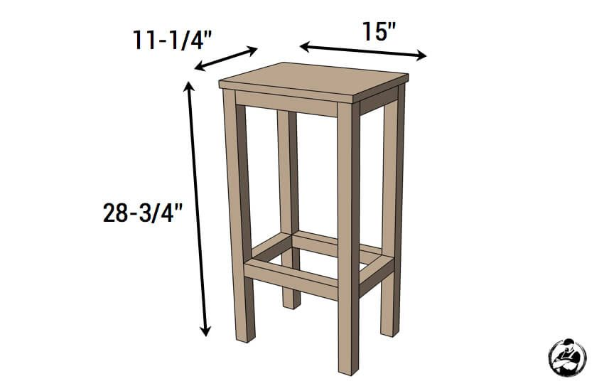 Easiest Bar Stools EVER! { Free DIY Plans   kitchen ideas ...