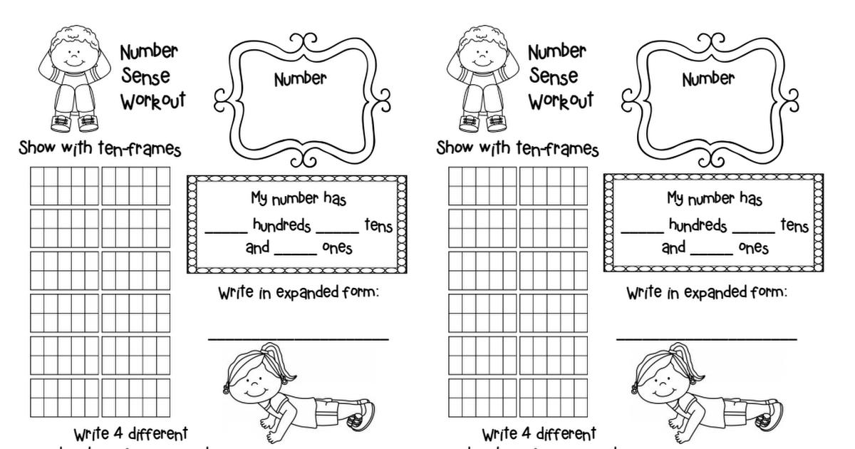 Number Sense Workout.pdf Number sense, 1st grade math, Math