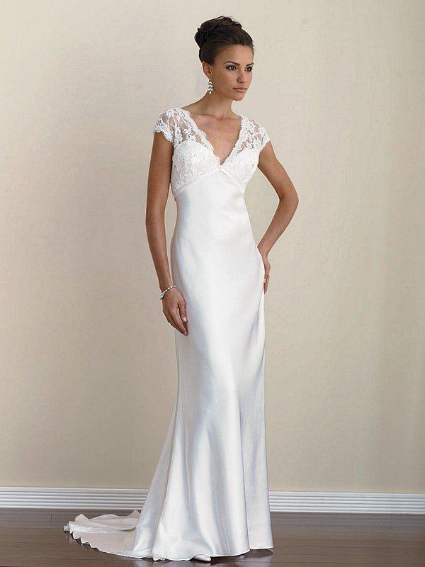 Simple Wedding Dresses With Sleeves Dress Cap Sleeve