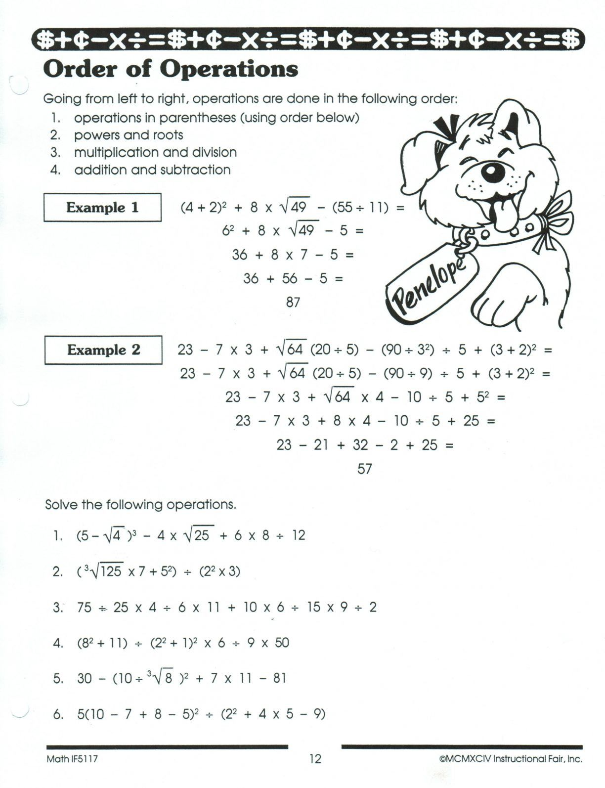 5th Grade Pemdas Worksheets Pemdas Worksheets In
