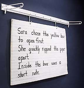 Wall mount flip chart rack no stand to trip over supports your paper against the so you can write on it slide out page also rh pinterest