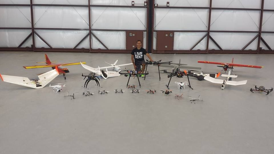 Part of the #HindsCC unmanned aircraft fleet with second year UAS