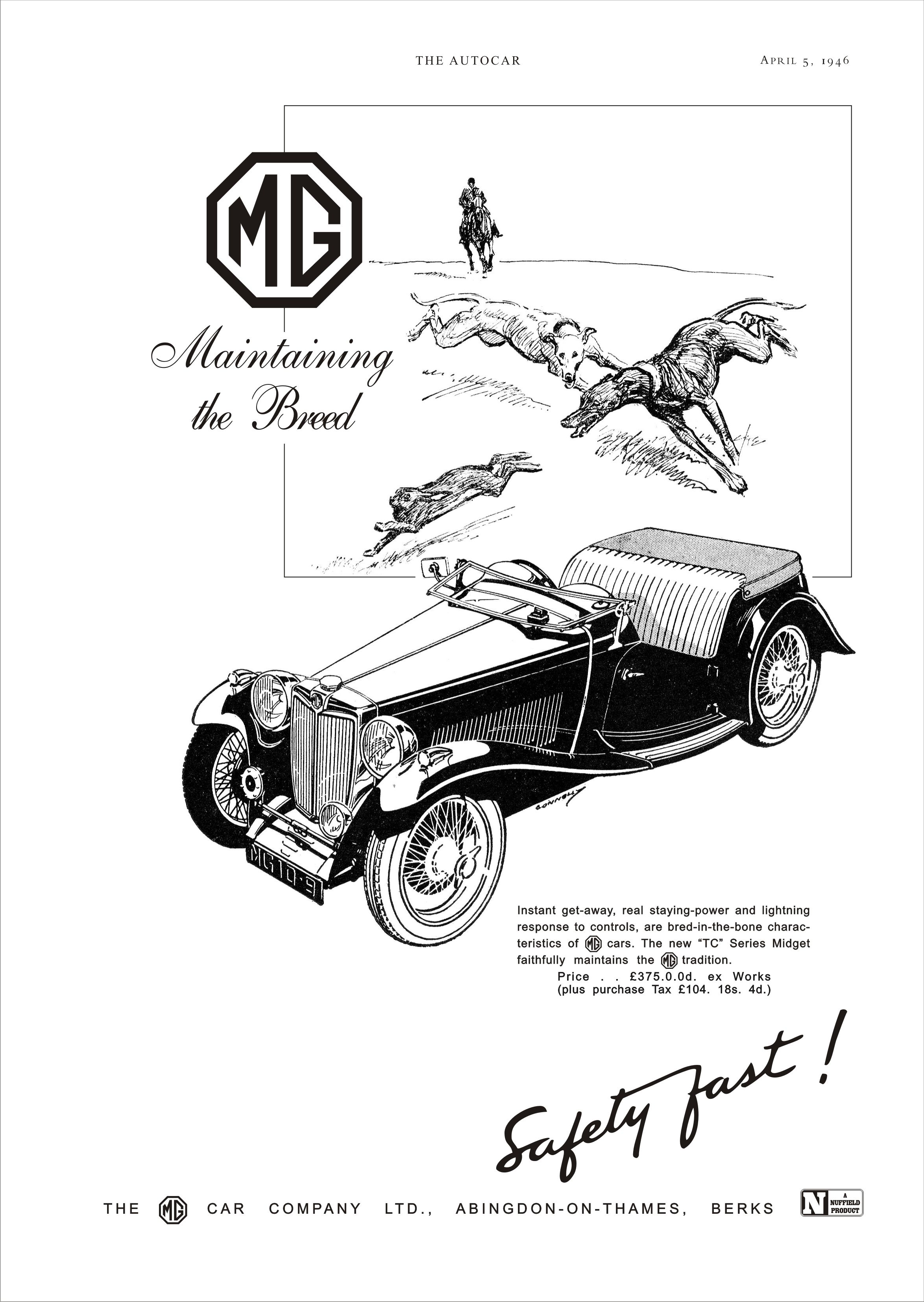 Mg Tc Wiring Diagram For Car Stereo Capacitor Advert 2 1946 Ta Tb Td Tf Pinterest