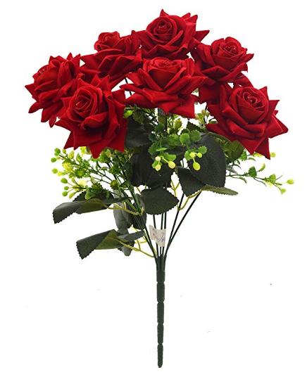 Artificial Velvet Rose Bouquet 78 Off Artificial Flowers Flowers Online Rose Bouquet