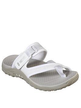 Skechers Reggae Flat Sandal in White