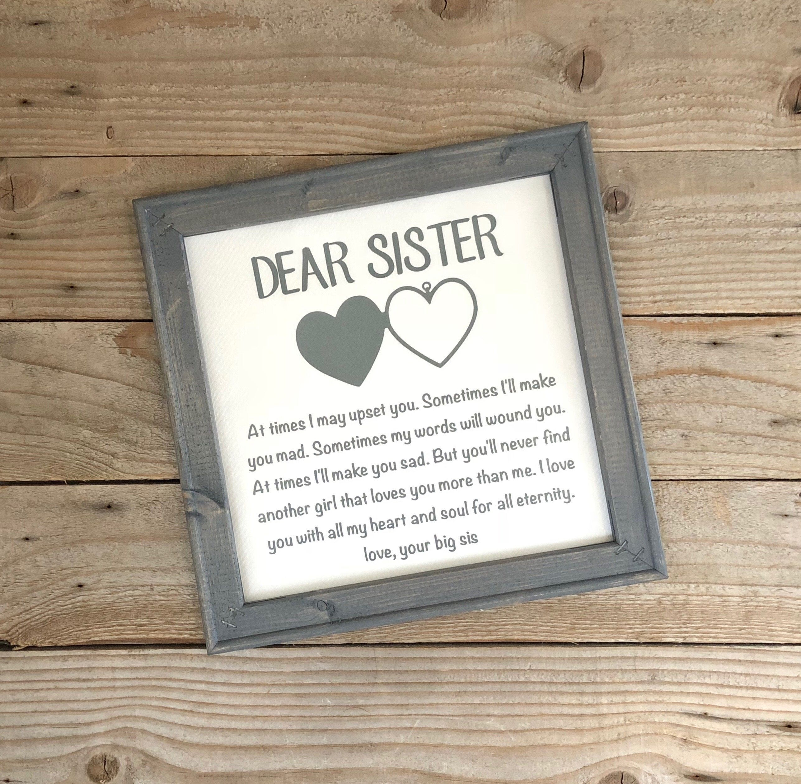 Reverse Canvas, Gift for Sister, Birthday Gifts, Wedding