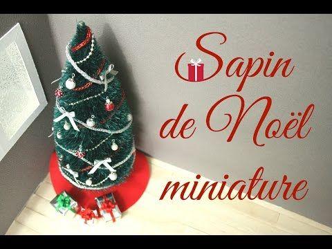 (TUTO) Sapin de Noël miniature / Miniature Christmas tree - YouTube