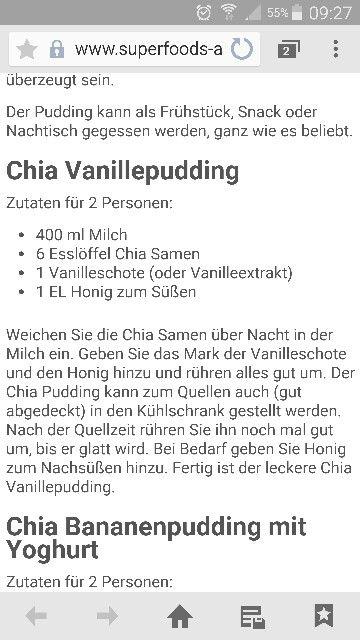 Chia Vanillepudding
