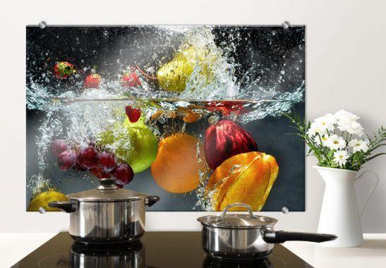 Pannelli paraschizzi - Pannello paraschizzi - Frutta rinfrescante - glasbilder küche spritzschutz