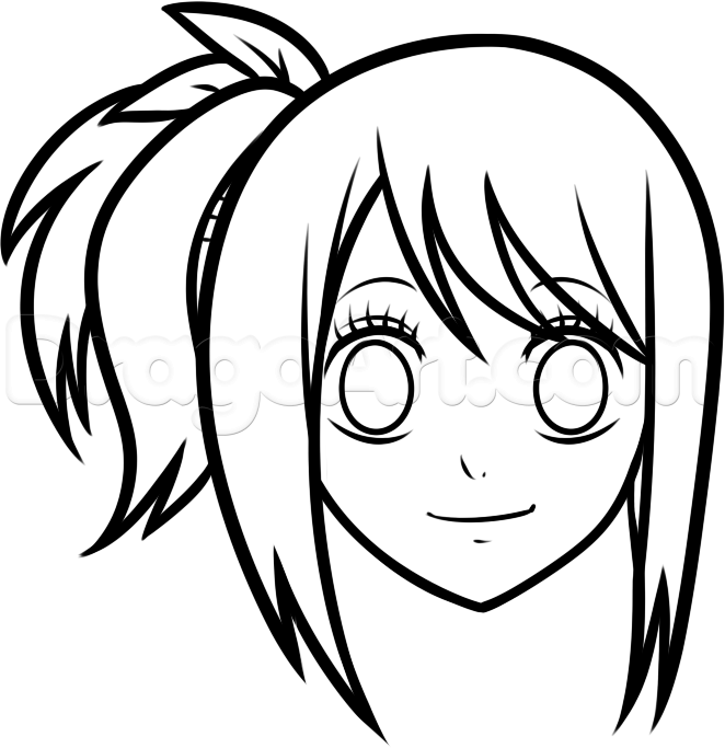 Anime Characters Easy To Draw : How to draw lucy easy step by anime characters