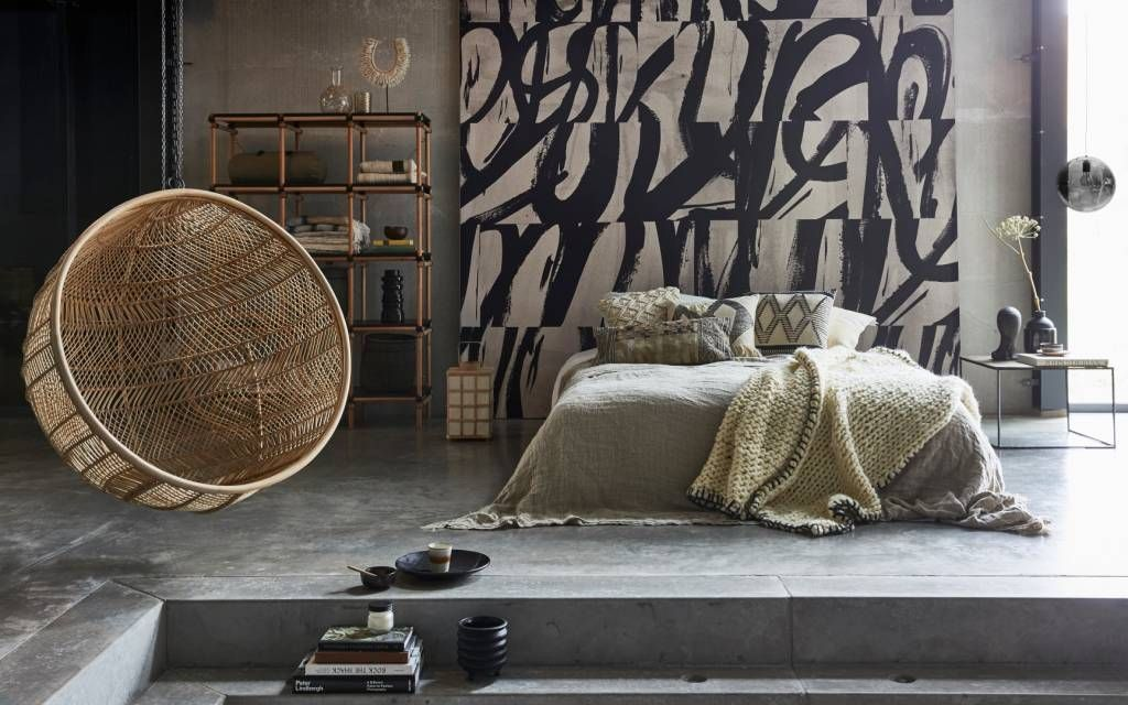 Hk living rotan hangstoel bohemian bal Ø104 cm sweet living shop