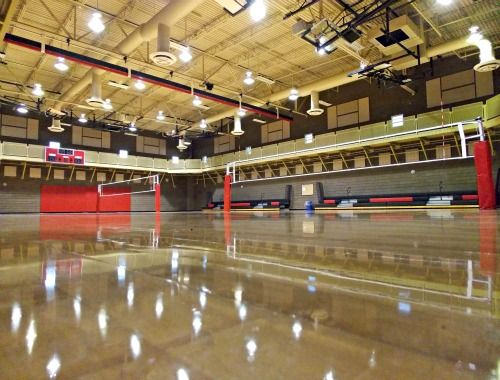 Stupak Community Center Indoor Volleyball Courts with two nets ...